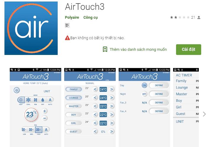 AirTouch3 điều khiển điều hòa bằng điện thoại (Ảnh 1)