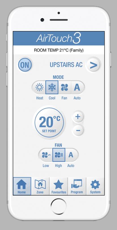 AirTouch3 điều khiển điều hòa bằng điện thoại