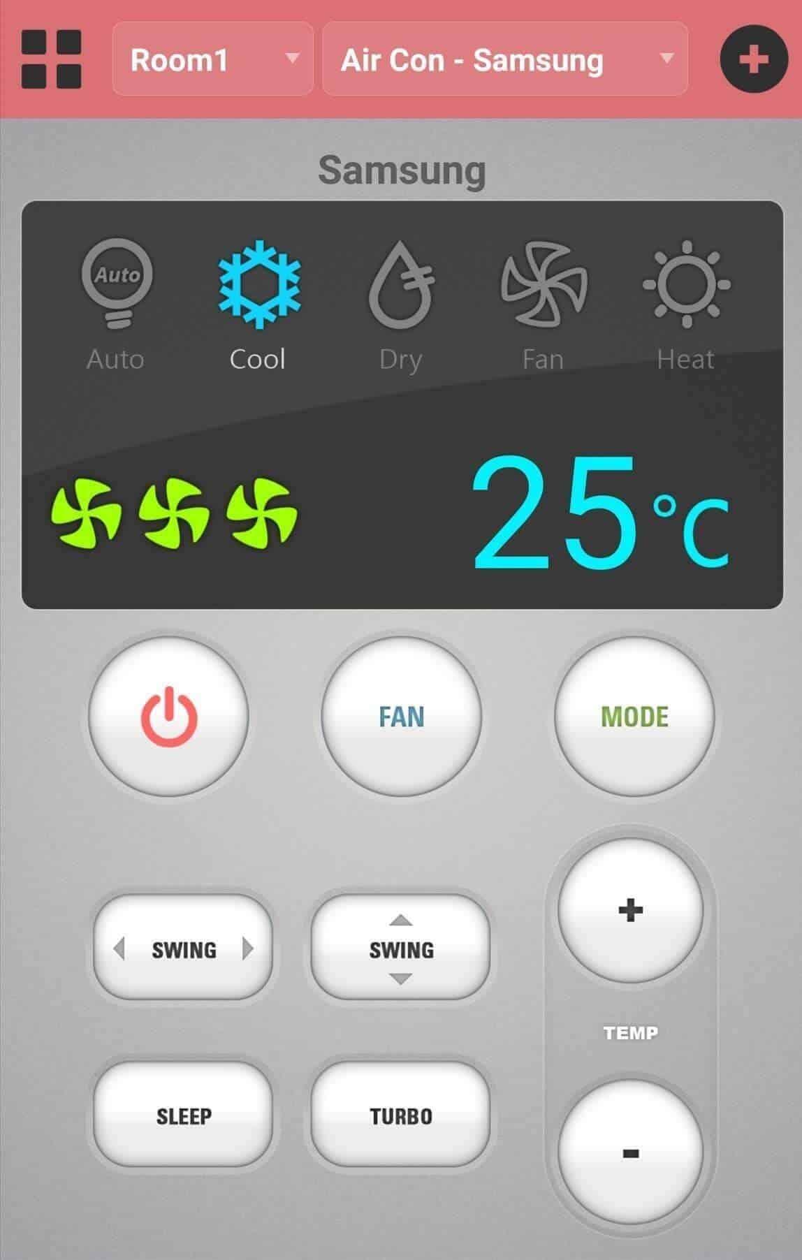 Điều khiển điều hòa bằng ứng dụng Asmart Remote IR