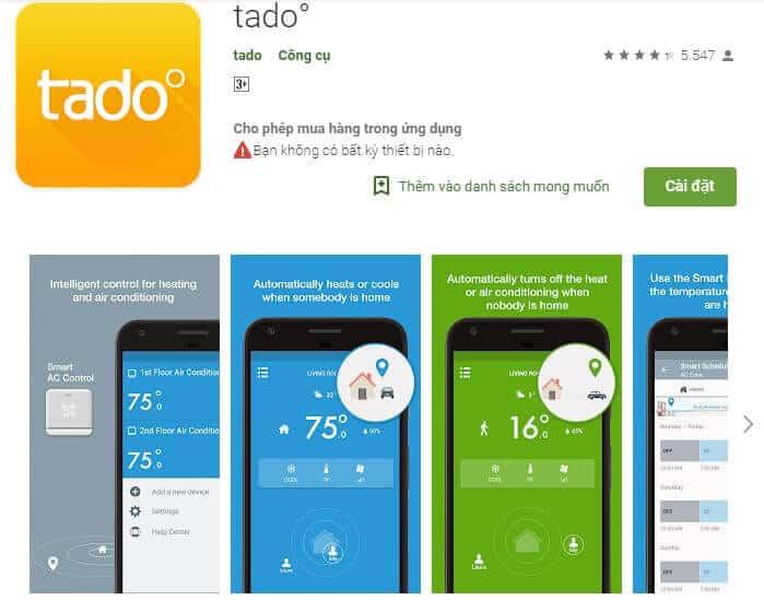 Tado điều khiển điều hòa bằng điện thoại(Ảnh 1)