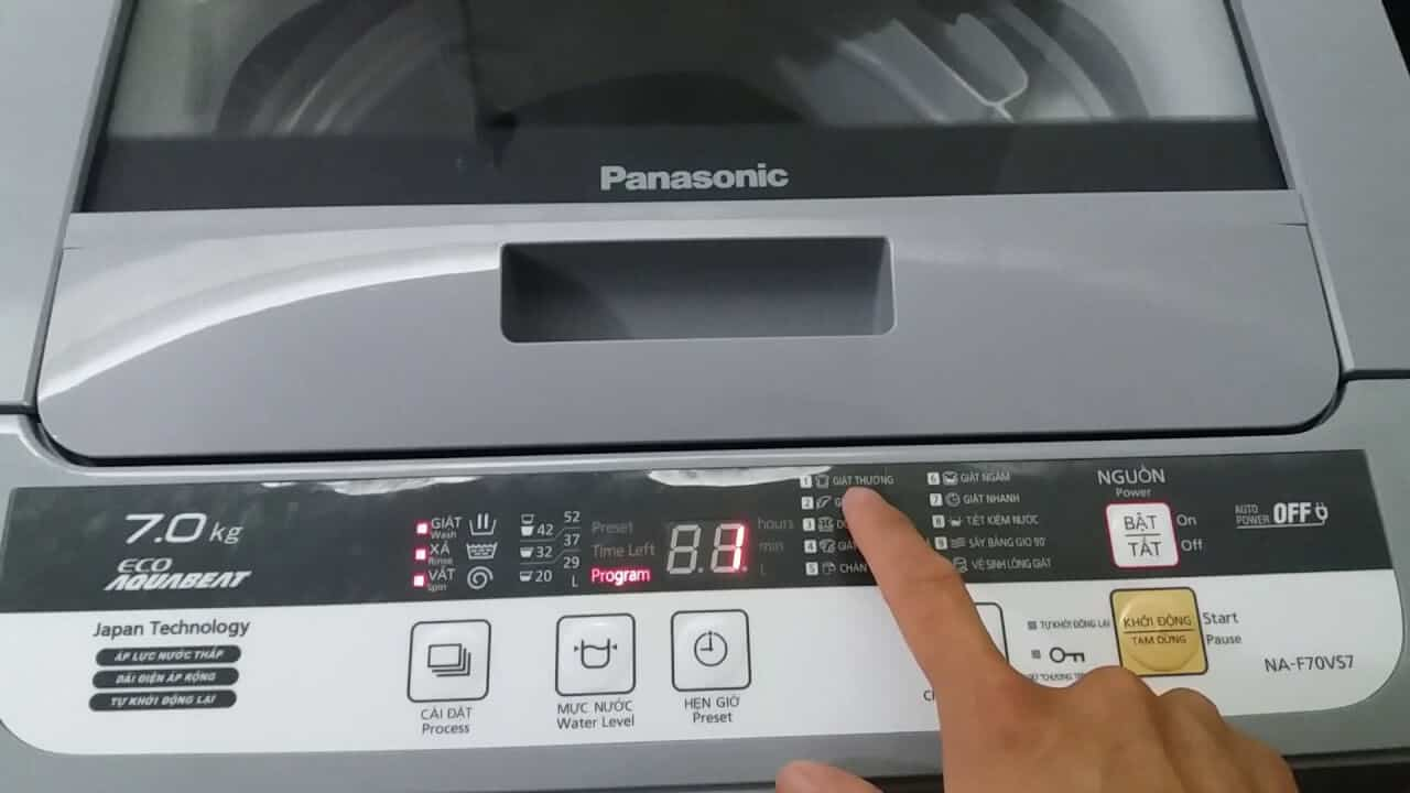 Hướng dẫn sử dụng máy giặt Panasonic