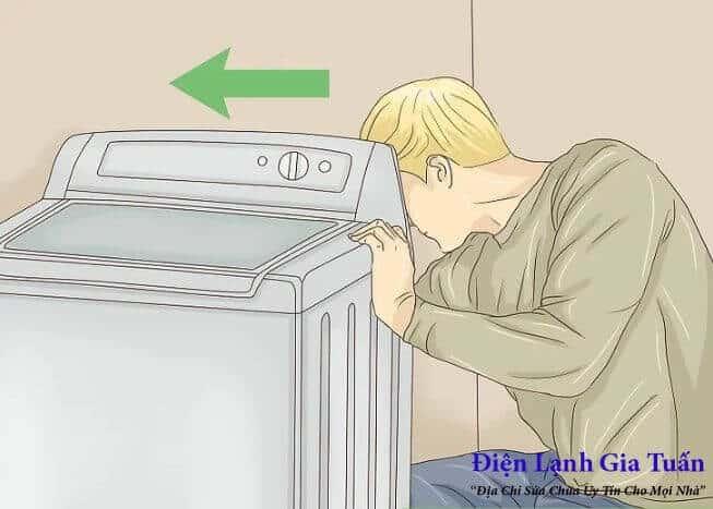 Cách xả hết nước trong máy giặt cửa trên