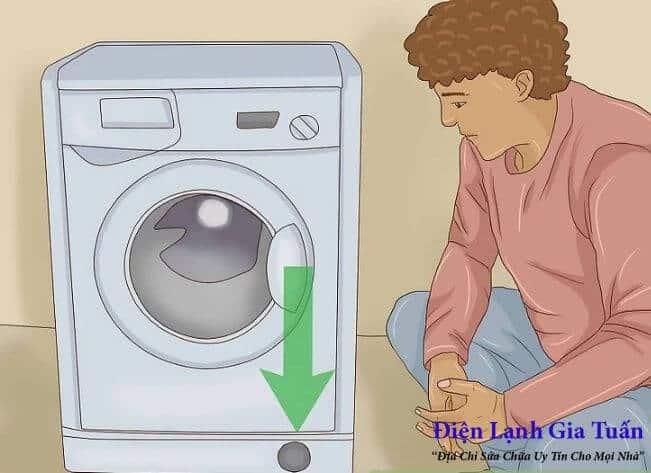 Cách xả hết nước trong máy giặt cửa trước